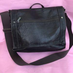 Vintage dark brown Kenneth Cole leather bag